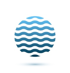 Abstract wavy round conceptual icon sphere vector image vector image
