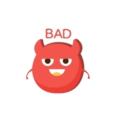 Bad red devil word and corresponding vector