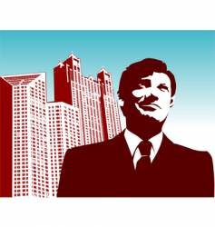 businessman-city vector image vector image