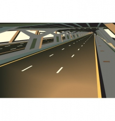 Covered highway vector
