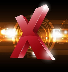 cross symbol with technology background vector image