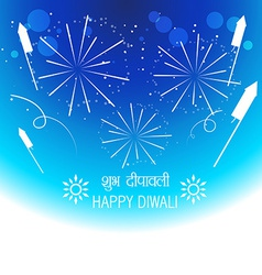 Diwali festival crackers vector