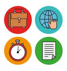 Education school set icons vector