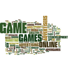 Got game text background word cloud concept vector