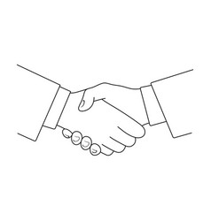 Handshakerealtor single icon in outline style vector