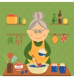 Housewife cooking jam design vector