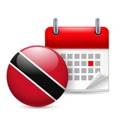 Icon of national day in trinidad and tobago vector