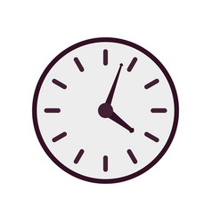 purple clock icon vector image