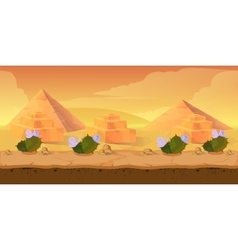 Pyramid game background vector