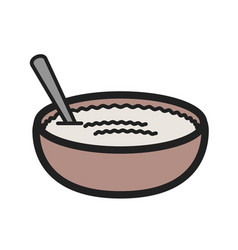 Rice pudding vector
