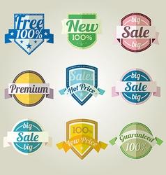 Sales New Premium Quality Labels set vector image vector image