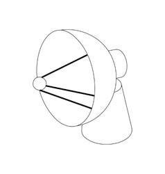 Satellite dish antenna radar icon vector