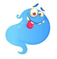 silly cartoon ghost vector image
