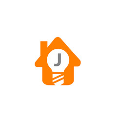 smart home initial j vector image vector image
