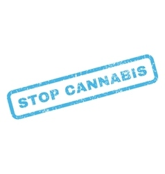 Stop cannabis rubber stamp vector