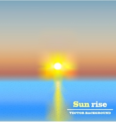 sun rise background vector image vector image
