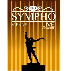 Sympho vienna live concert concept vector