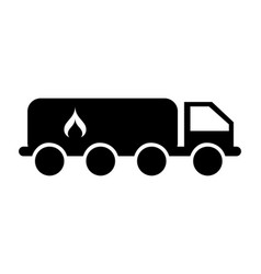tanker truck with flame vector image