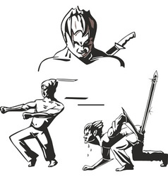 Teen warriors of martial arts vector