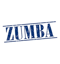 Zumba blue grunge vintage stamp isolated on white vector
