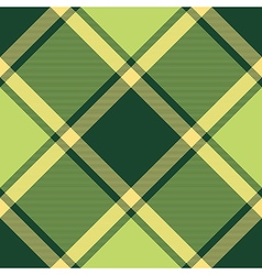 Green ireland plaid diagonal seamless pattern vector