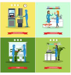 Set of scientific research laboratories vector