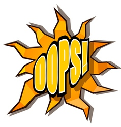 Cartoon oops with rays vector image