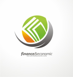 Logo design with money in negative space vector image