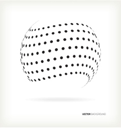 3D sphere from points vector image