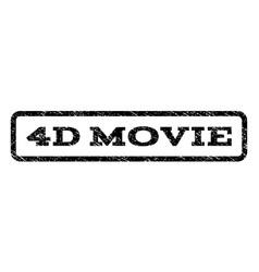 4d movie watermark stamp vector