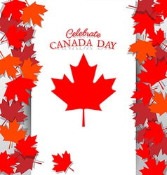 Maple leaf and text for celebrate the national day vector
