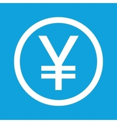 Yen sign icon vector