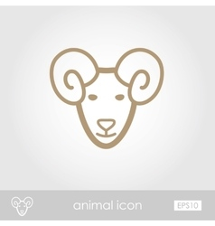 Sheep icon vector
