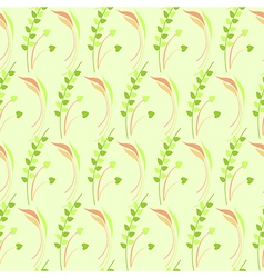 Seamless pattern with leaves and grass vector