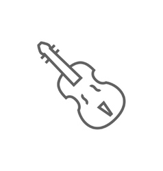 Cello line icon vector