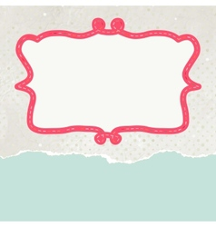 Vintage pattern card vector