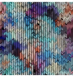 Multicolor knitted pattern vector