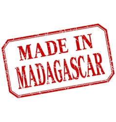 Madagascar - made in red vintage isolated label vector