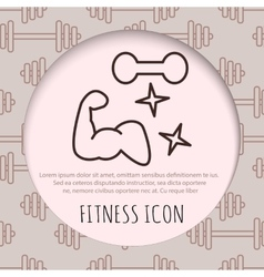 Fitness line art icon for your design vector