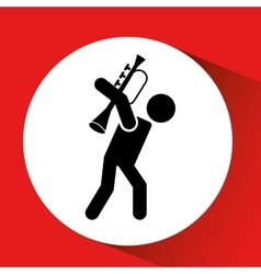 Person playing instrument design vector