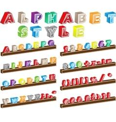 ALPHABET STYLE vector image