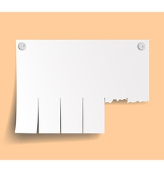 Blank ads on the wall vector