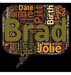 Brad pitt angelina jolie love horoscopes report vector