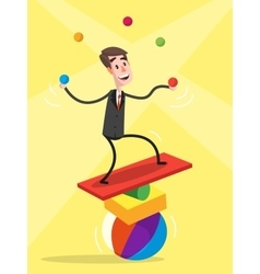 Businessman Balancing vector image vector image