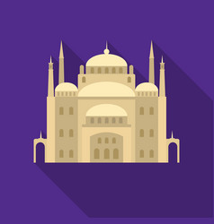 cairo citadel icon in flat style isolated on white vector image vector image