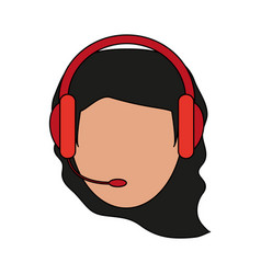 Color image cartoon front view faceless female vector