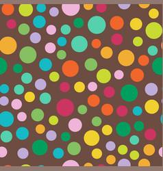 Colored circle seamless pattern shape art vector
