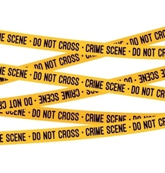 Crime scene yellow tape vector