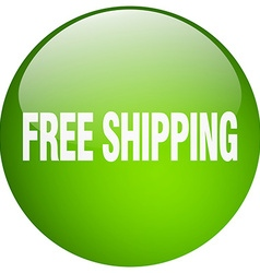 Free shipping green round gel isolated push button vector