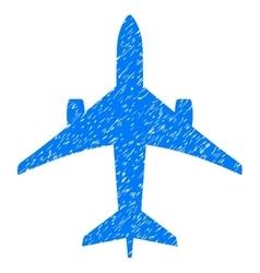 Jet plane grainy texture icon vector